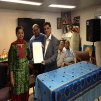Felicitation of Dr.Gaurang By Mayor of Jersey City